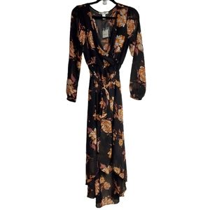 NWT ReVamped Floral Faux Wrapped Maxi Dress